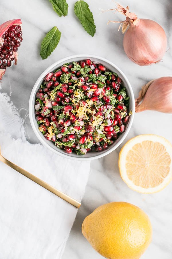 Pomegranate Mint Relish | My Kitchen Love