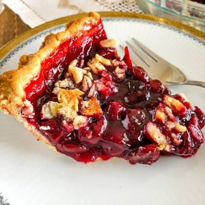 This Sour Cherry Pie is a wonderful recipe to make for the holidays. If you want to bring the flavors of summer to a Thanksgiving meal this is the perfect occasion to make this pie. And what about Christmas? Why not? That would work as well.