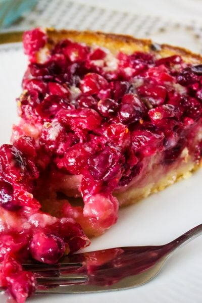 Cranberry Custard Pie With Cream Cheese Crust