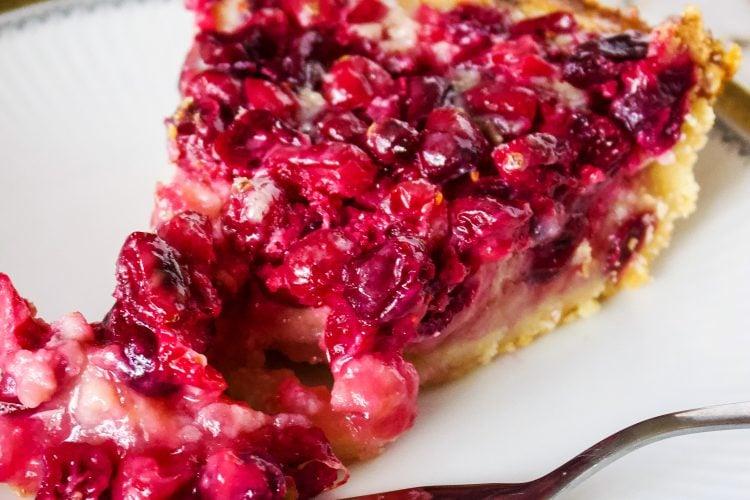 Cranberry Custard Pie With Cream Cheese Crust