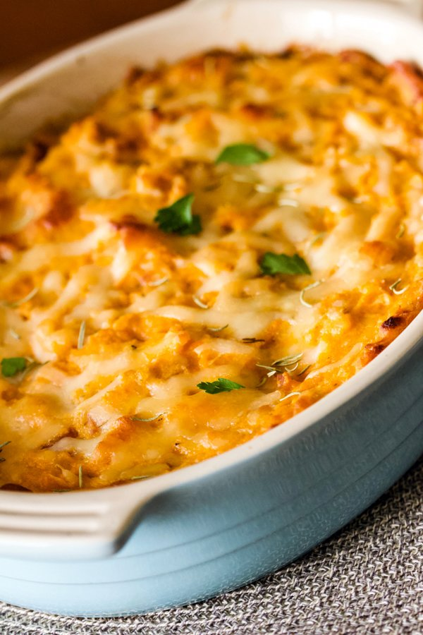 Are you looking for a Savory Sweet Potato Casserole? Look no more! This is a recipe of a delicious side dish that could be served for the holidays.