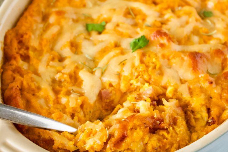 Savory Sweet Potato Casserole- Delicious Thanksgiving Side Dish