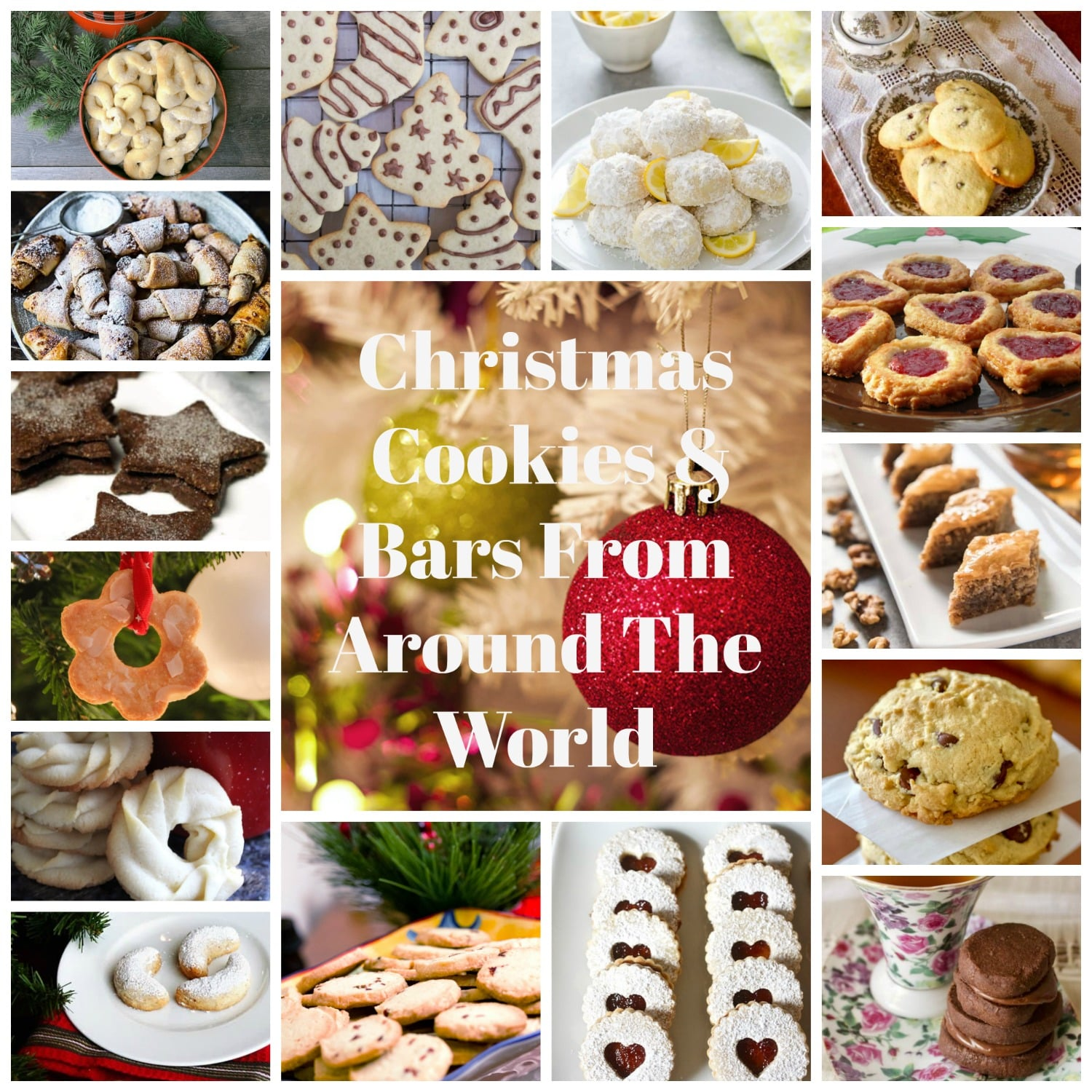 Christmas Cookies & Bars From Around The World- America is baking cookies for the holidays. To honor the tradition I decided to put together a collection of cookie recipes from all over the world.
