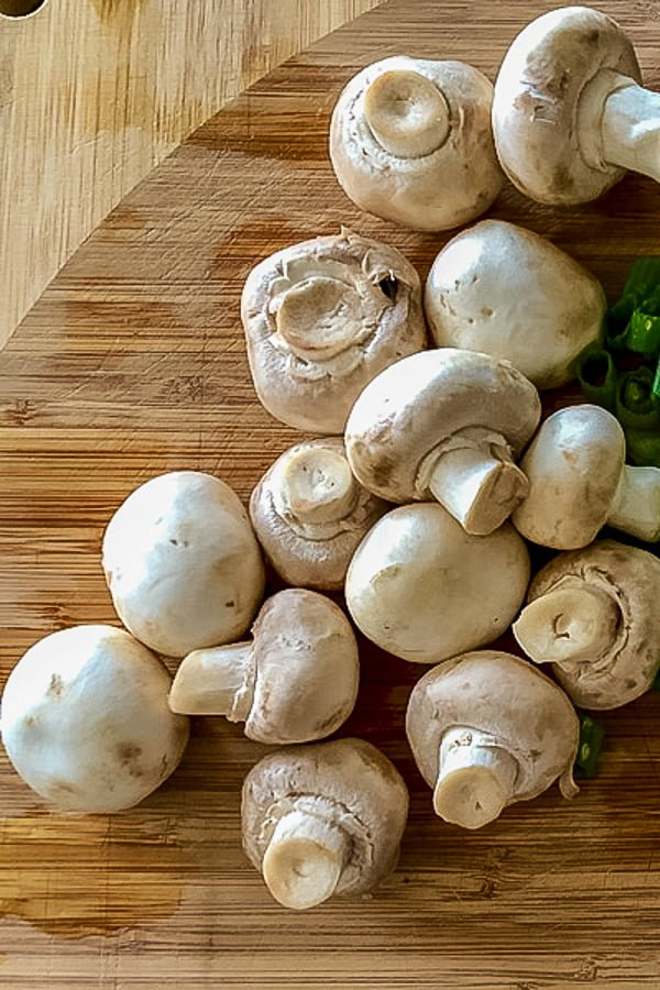 Mushroom Salad With Garlic And Mayo is a recipe made with fresh cooked or canned mushrooms, dill, garlic and mayo. Perfect as appetizer, this salad can be served at any party during the year but is especially good around the holidays.