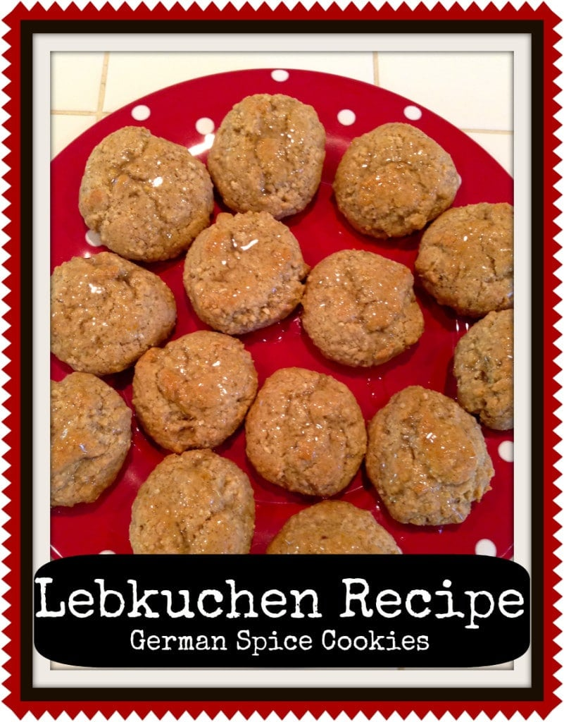 Lebkuchen german spice cookie