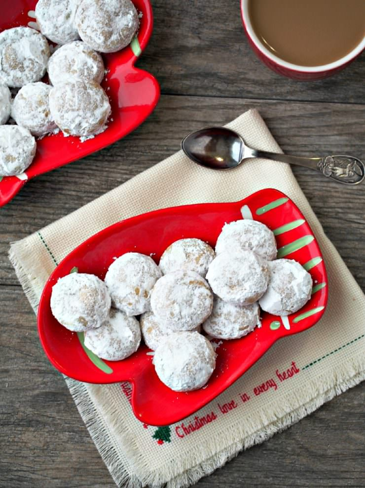 Pfeffernusse-Spiced-Snowball-Cookies are traditional European snowball cookies, crunchy and robustly spiced. Despite the literal