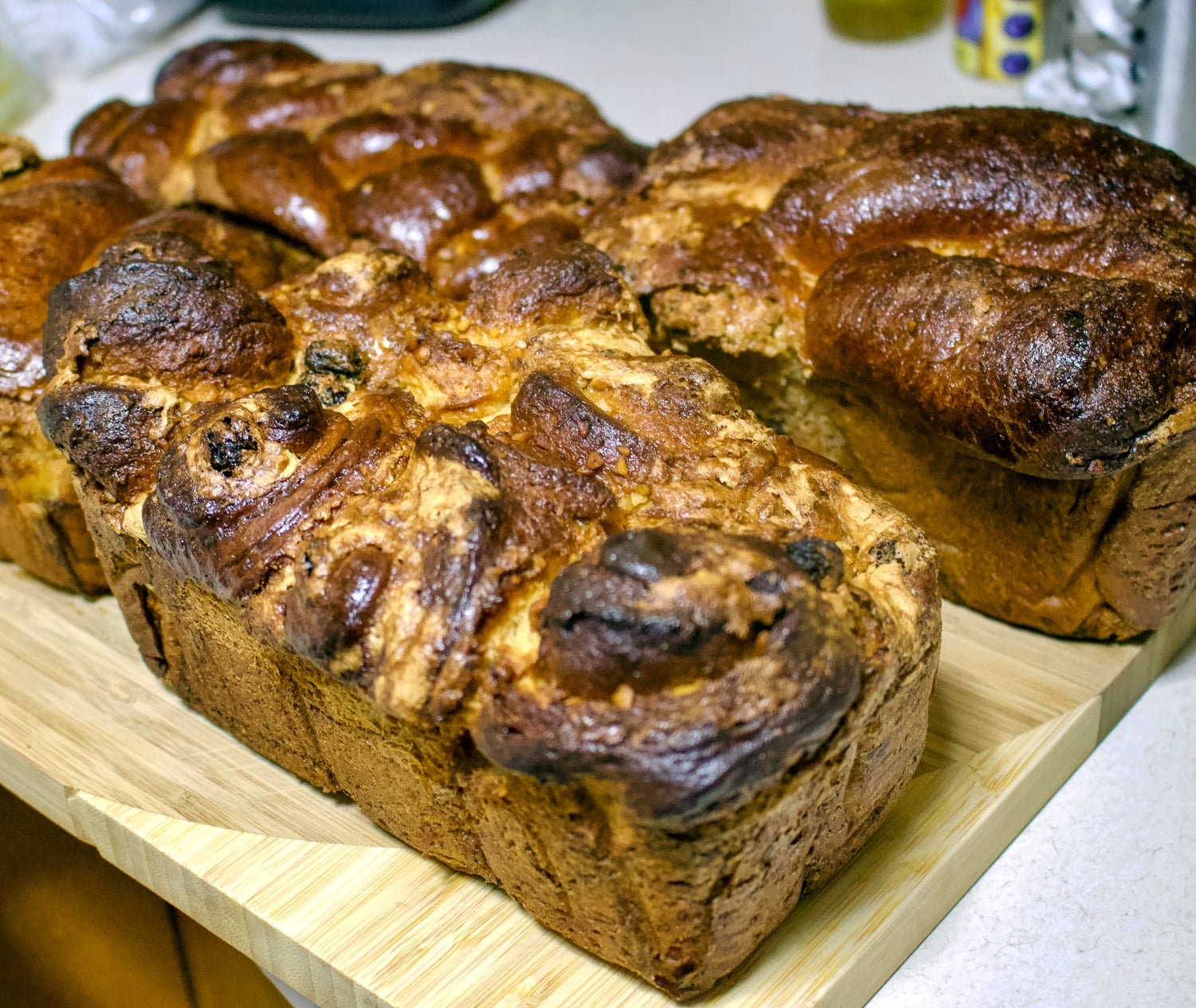 Romanian Traditional Sweet Bread With Walnuts- Cozonac is a recipe that is made every year for the holidays. Flour, sugar, eggs, milk and yeast are the main ingredients.