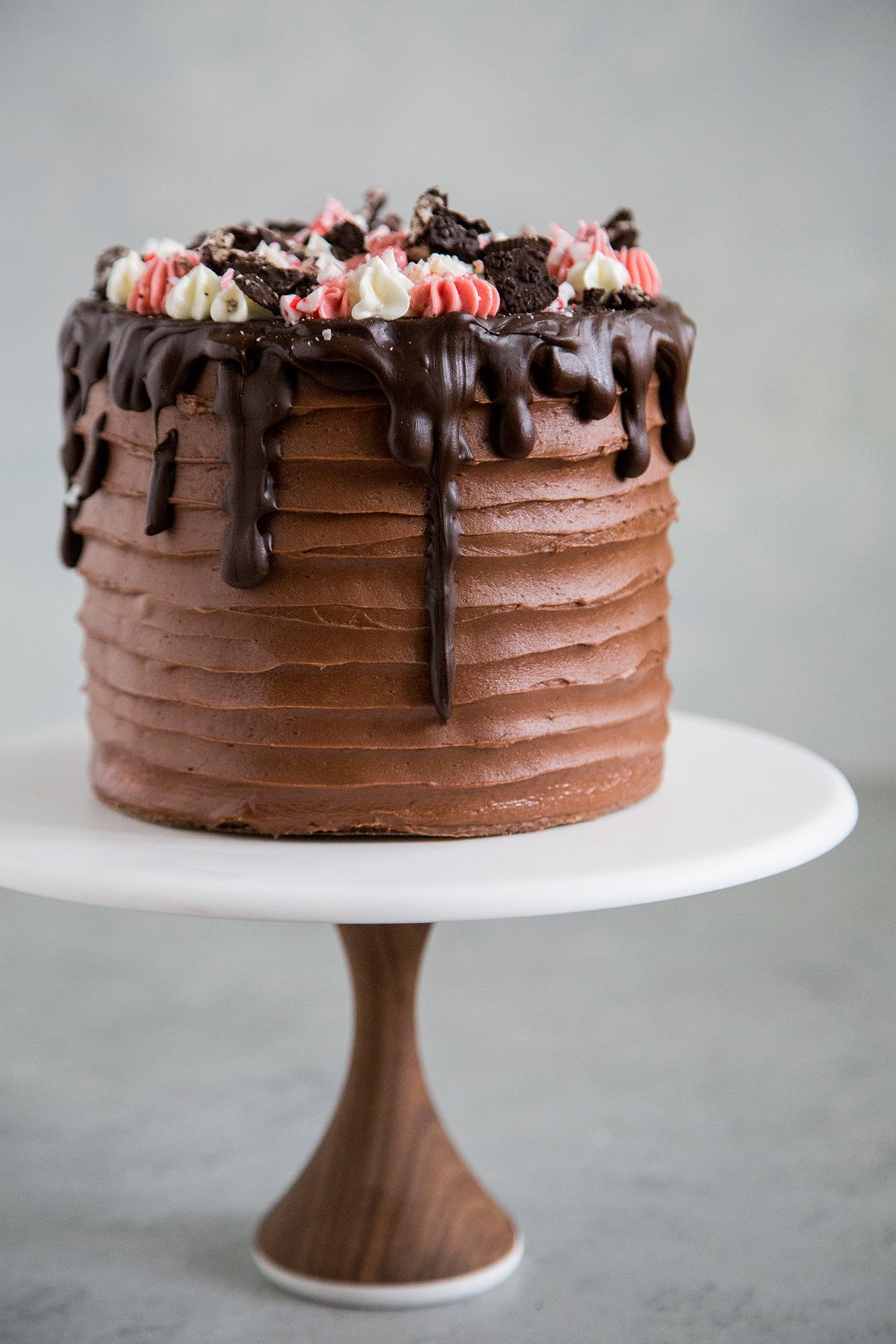 Cane Candy Cookies and Cream Cake