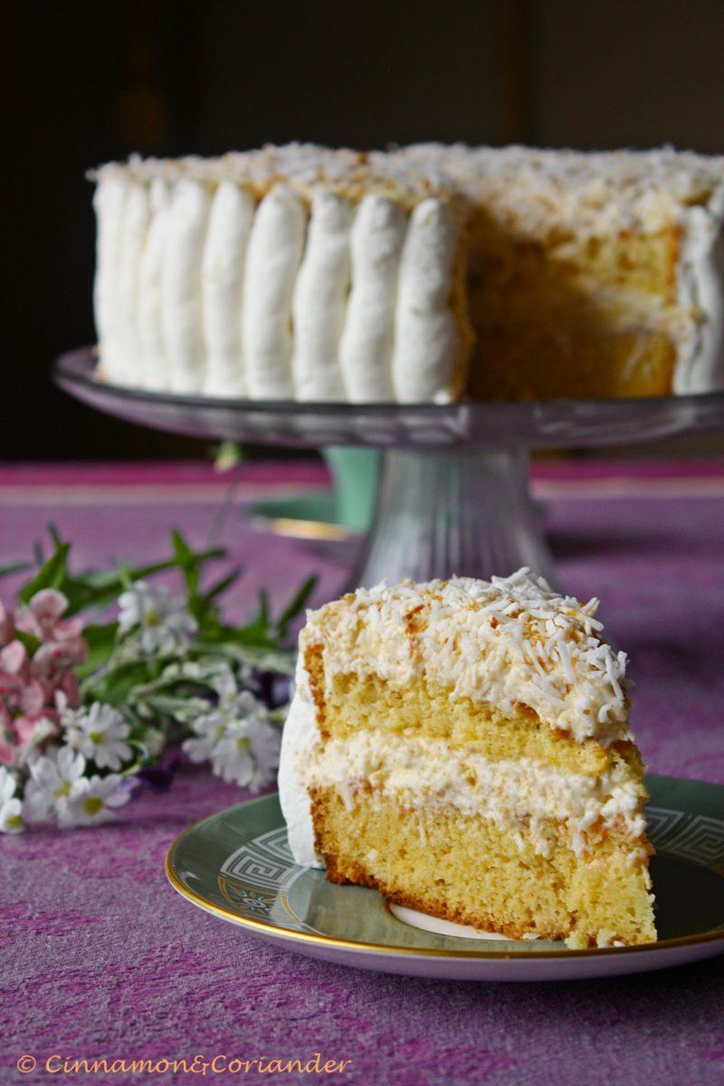 Raffaello Cake with White Cocolate and Advocaat Liqueur