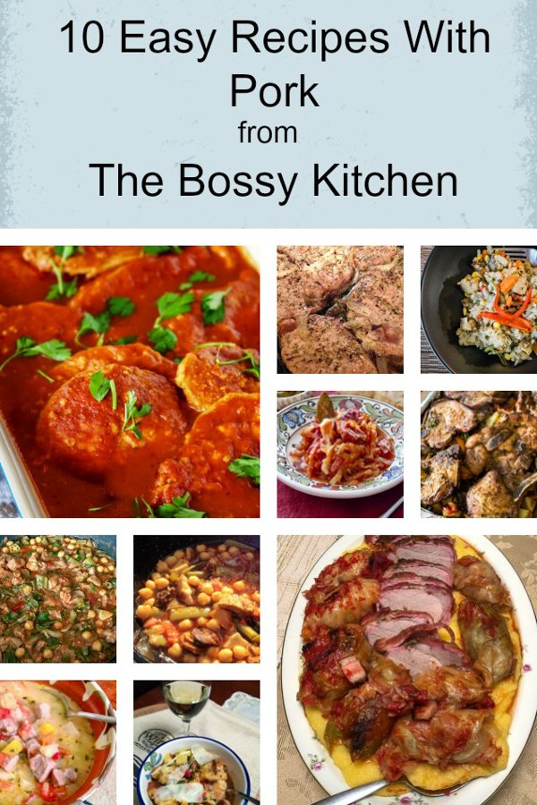 10 pork recipes from The Bossy Kitchen to make during the cold season. Most of these recipes are easy to make and great for any day of the week.