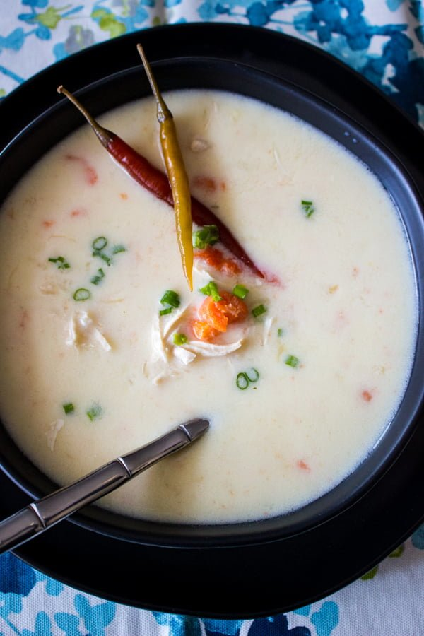 "Chicken Soup With Sour Cream And Garlic is a Romanian soup also called ""Ciorba Radauteana"". Delicious and very nutritious."
