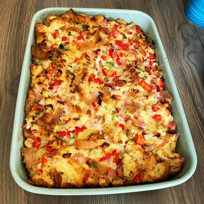 How To Make A Breakfast Savory Bread Pudding(Strata)