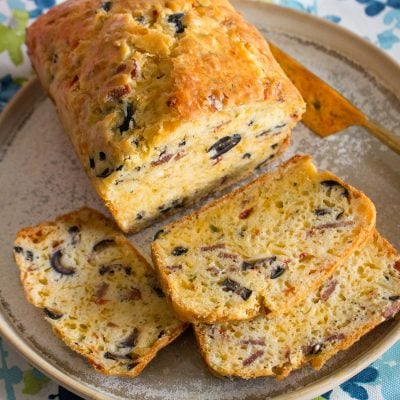 Savory Quick Bread With Cheese and Olives