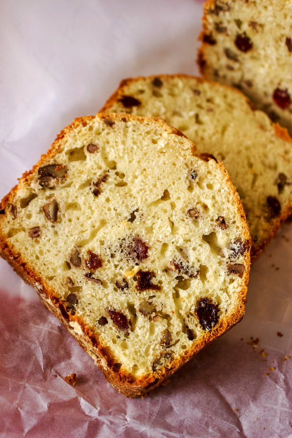 Low Sugar Bread With Dried Fruit And Nuts is a recipe of sweet bread that is low in sugar, but enriched with dried fruits, nuts or even seeds, based on your preferances. This is a great option for the entire family to have around for breakfast, lunch or snack.