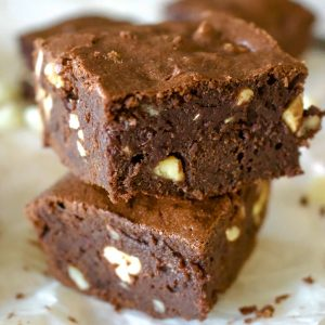 Triple Chocolate Stout Brownies With Nuts144