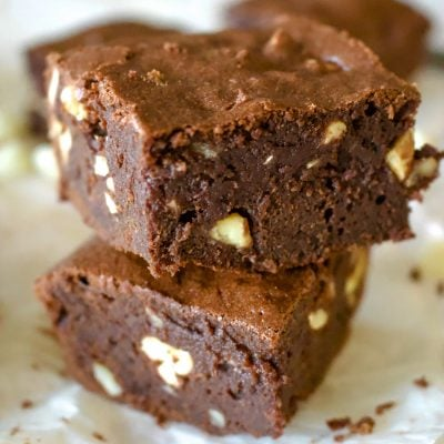 Triple Chocolate Stout Brownies With Nuts