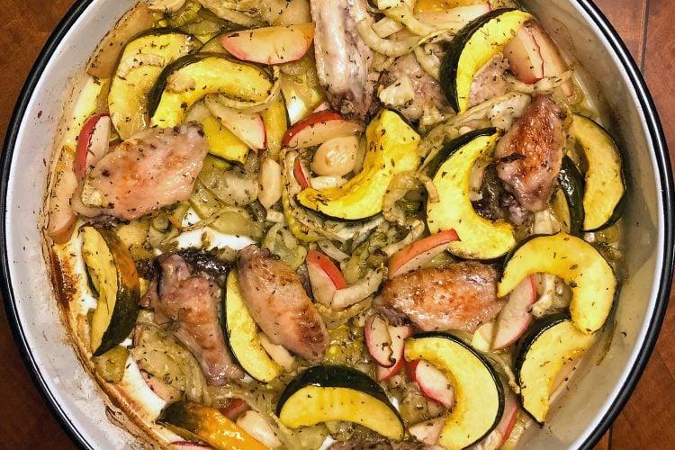 Acorn Squash With Chicken & Fennel