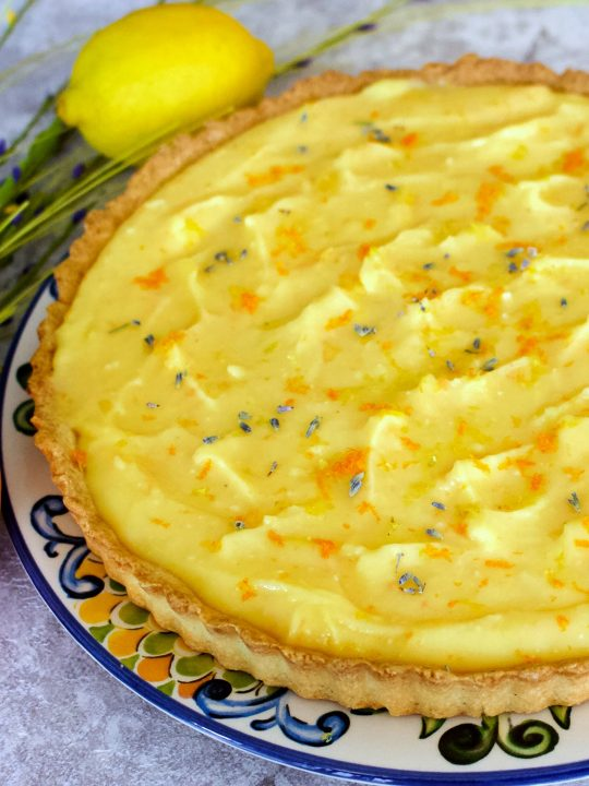 Easy Lavender Citrus Curd Pie0