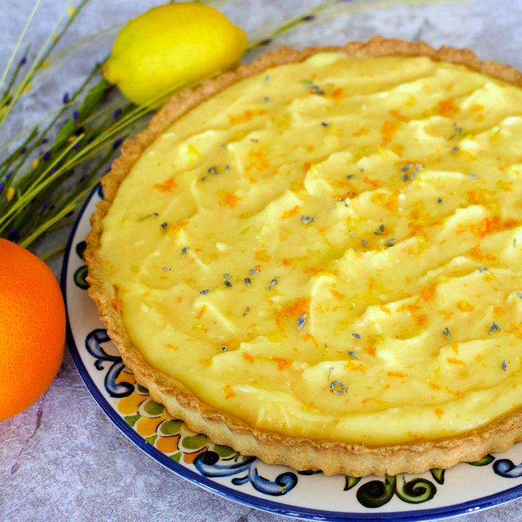 Easy Lavender Citrus Curd Pie