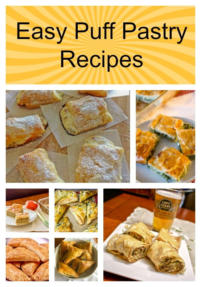 Easy Puff Pastry Recipes- featured picture for Pinterest