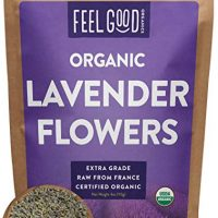 Organic Lavender Flowers Dried - Perfect for Tea, Baking, Lemonade, DIY Beauty, Sachets & Fresh Fragrance - 100% Raw From France - Large 4oz Resealable Bag - by Feel Good Organics