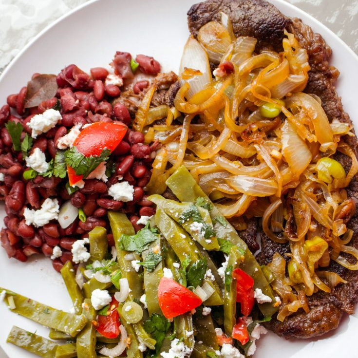 Authentic Mexican Bistec Encebollado- Steak And Onion