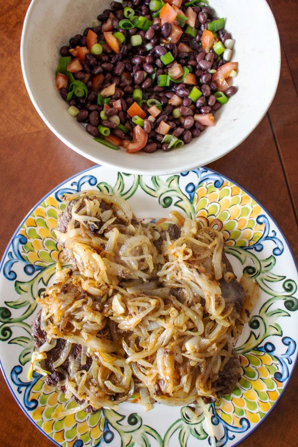 There are nights when you need to put food on the table really fast and there is no inspiration. This Authentic Mexican Bistec Encebollado- Steak And Onion will take you out of trouble and help you deliver a great dinner for your family.