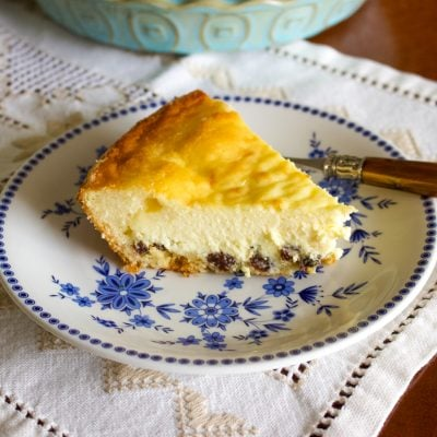 Easy Romanian Traditional Easter Cheesecake