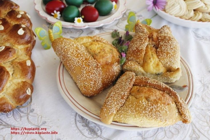 Flaounes (Cypriot Easter Cheese filled Bread) - Kopiaste..to Greek Hospitality
