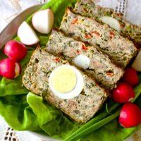 Romanian Easter Meatloaf-Drob de Carne tocata cu legume