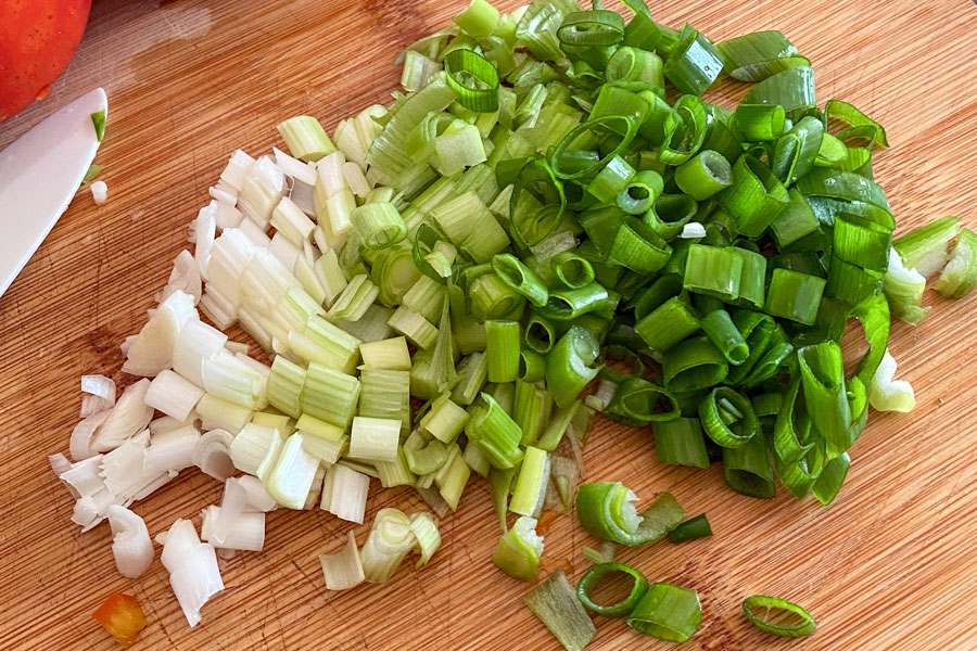 chopped green onions0