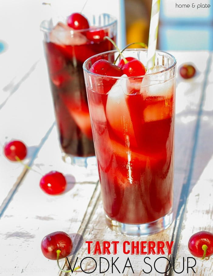 Cherry Vodka Sour Cocktail Recipe