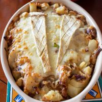 Cheese And Bacon Potato Dish- An American Version Of the French Tartiflette