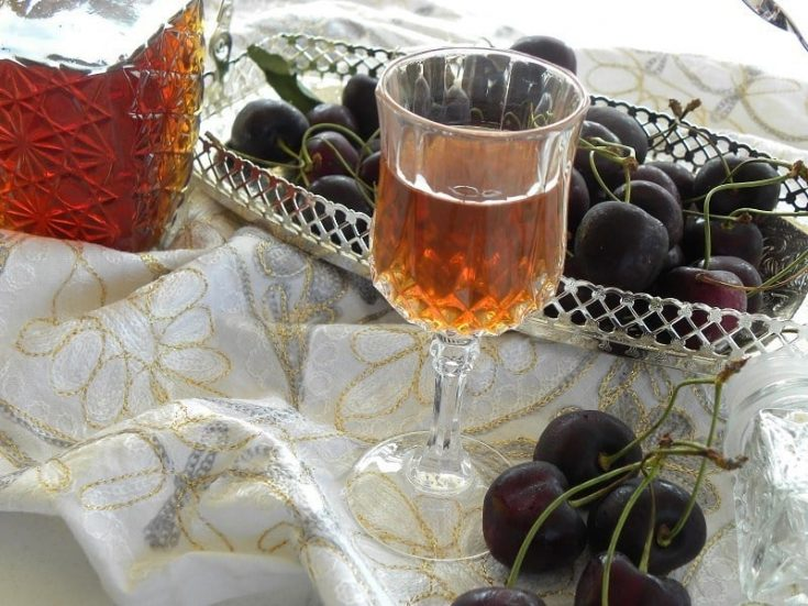 Easy Cherry Pit Liqueur with Cherry Syrup - Kopiaste..to Greek Hospitality