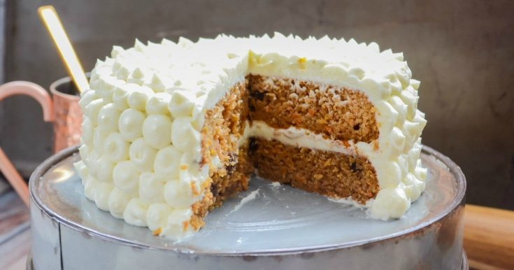 Grain-Free & Low Carb Maple Carrot Cake (with cultured maple cream cheese frosting!)
