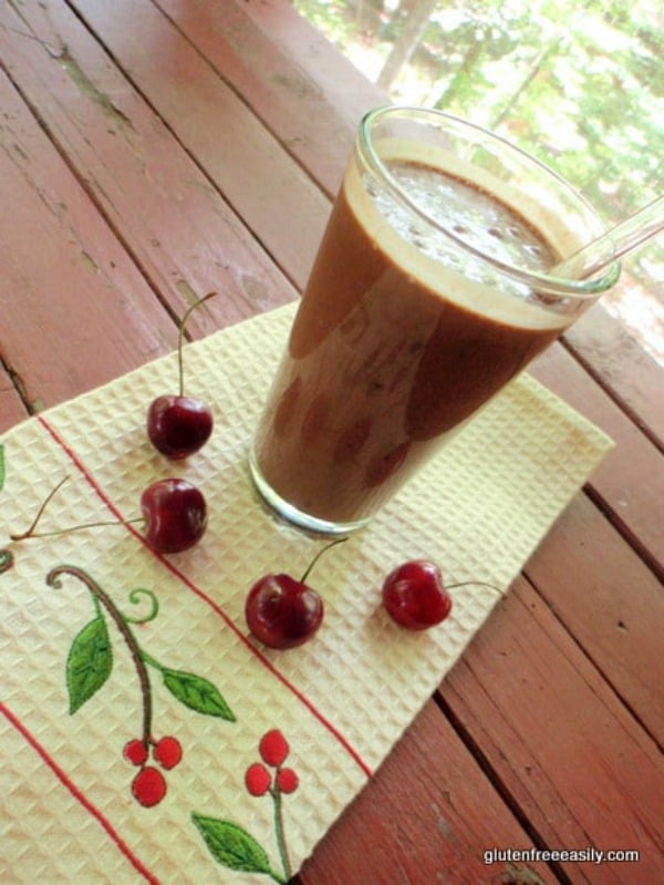 Dairy-Free Chocolate Cherry Milkshake Recipe