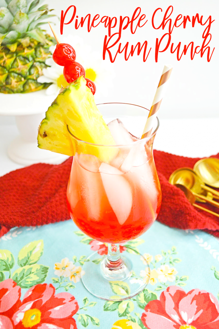 Pineapple Cherry Rum Punch Cocktail Recipe