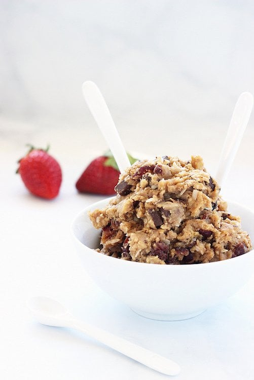 Loaded Oatmeal Chocolate Chip Cookie Dough Dessert Hummus
