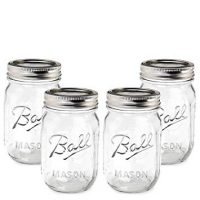 Ball Mason Jar-16 oz. Clear Glass Heritage Series - Set of 4