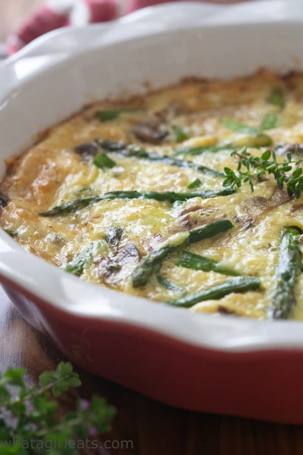 Asparagus Mushroom Gluten-Free Quiche