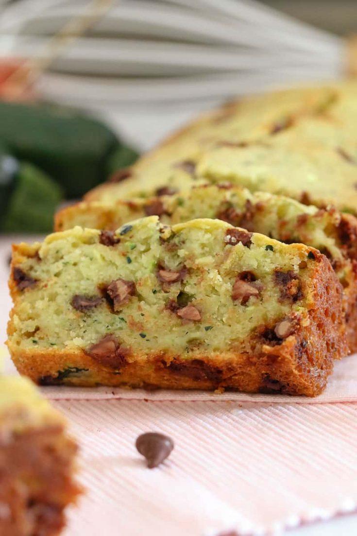 Chocolate Chip Zucchini Bread   Healthier Recipe
