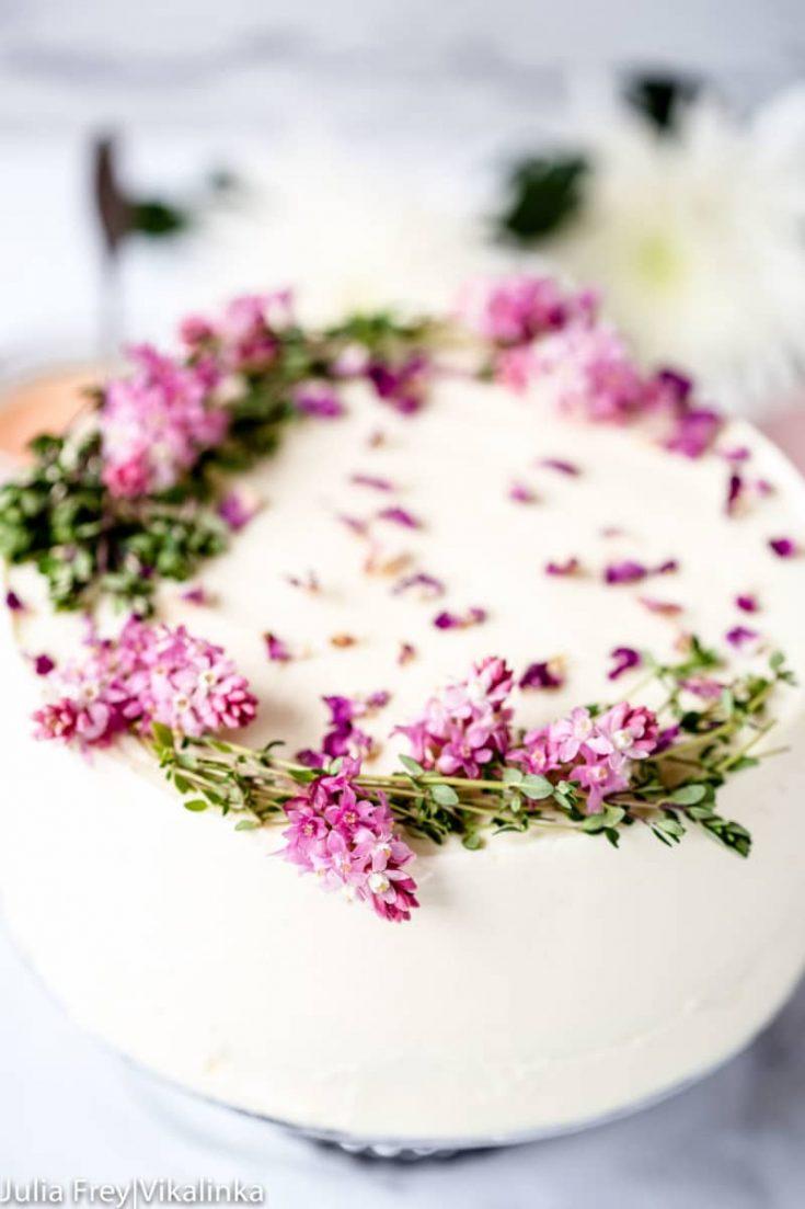 Rose Rhubarb Layer Cake