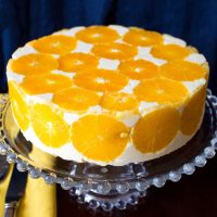 No Bake Orange Mousse Cake