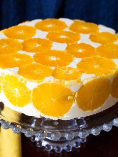 No Bake Orange Mousse Cake2222