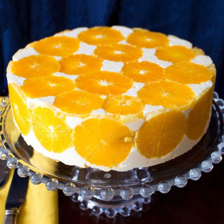 No Bake Orange Mousse Cake