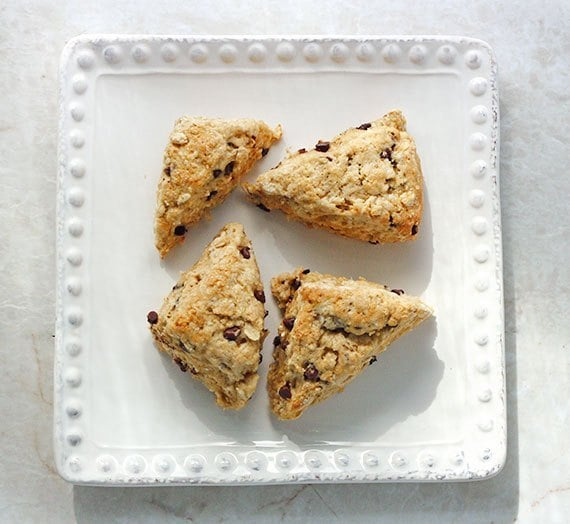 Brown Butter Chocolate Chip Scones Minis | SoupAddict