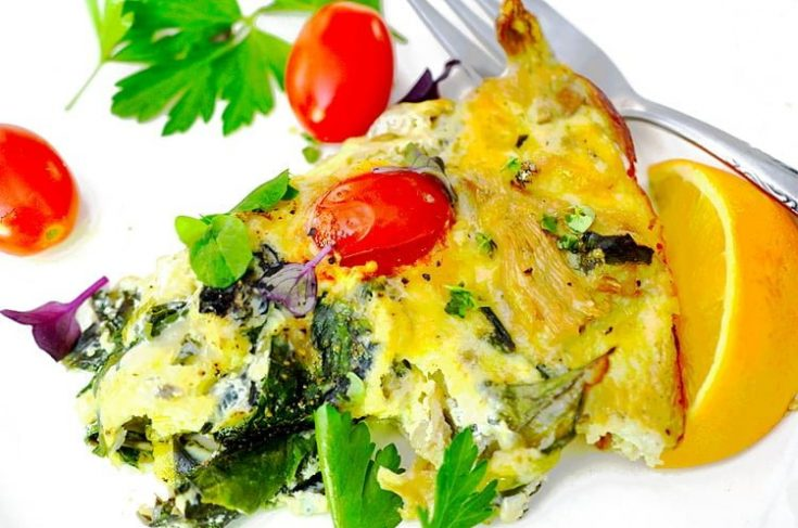 Crustless Vegetable Quiche - Health AND Flavor