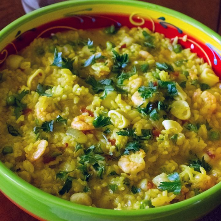 Easy Yellow Rice With Seafood