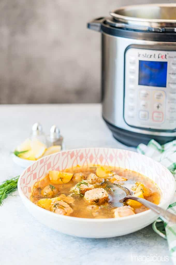Quick and Easy Instant Pot Fish and Potato Soup + Video