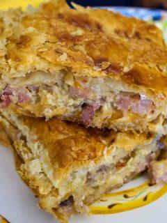 Onion HamCheese Pie1616